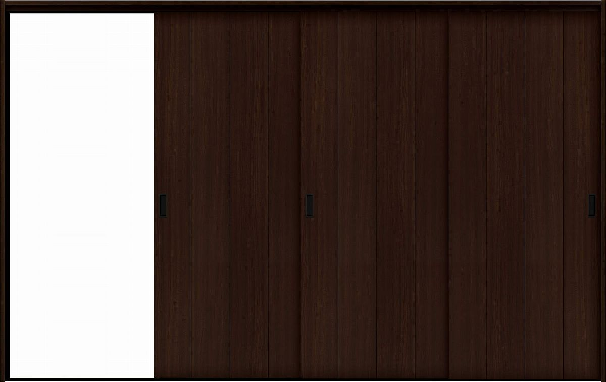 YKKAP室内引戸 ラフォレスタ[スタイリッシュ][木目たて] 3枚片引き戸 T11 ケーシング枠:[幅3222mm×高2033mm]