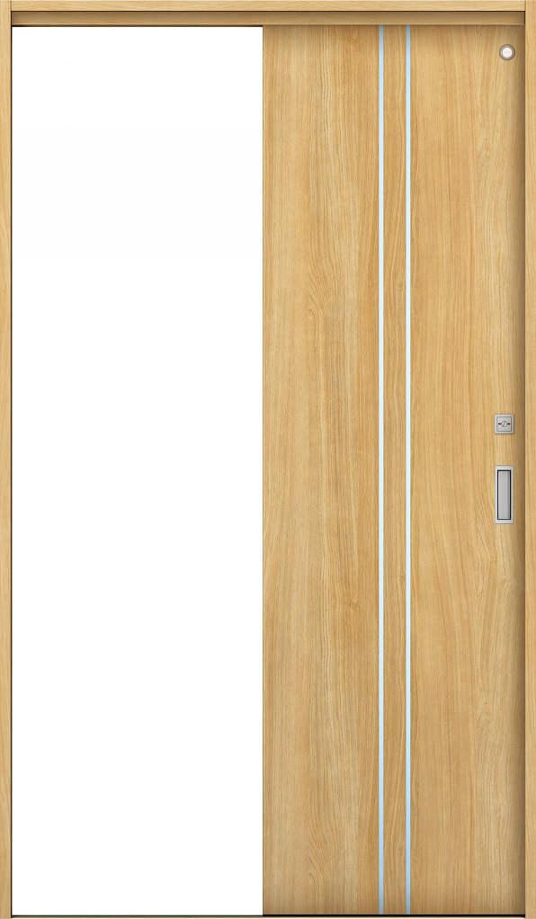 YKKAP室内引戸 ラフォレスタ[スタイリッシュ][木目たて] トイレ片引き戸 T13 ノンケーシング枠: