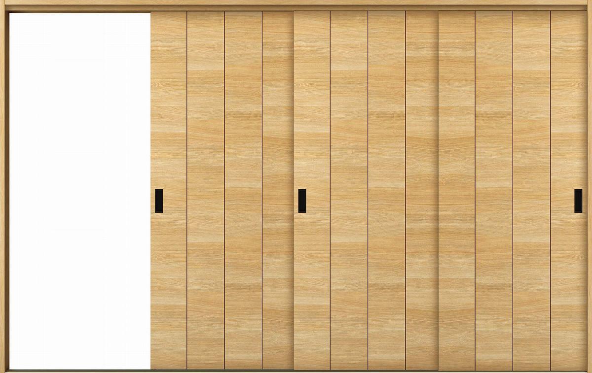 YKKAP室内引戸ラフォレスタ[スタイリッシュ][木目横]3枚片引き戸Y11ケーシング枠:[幅3222mm×高2033mm]