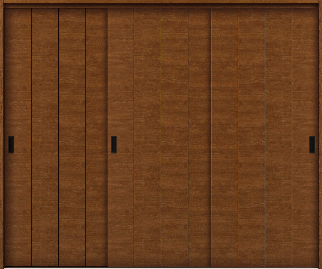 YKKAP室内引戸 ラフォレスタ[スタイリッシュ][木目横] 3枚引き違い戸 Y11 ケーシング枠:[幅2433mm×高2033mm]