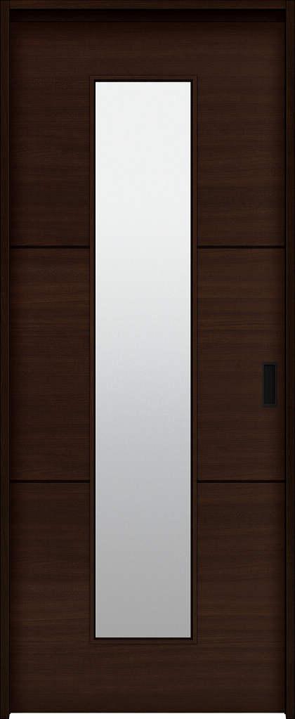 YKKAP室内引戸 ラフォレスタ[スタイリッシュ][木目横] 片引込み戸 Y40 ケーシング枠: