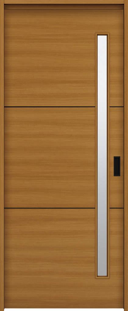YKKAP室内引戸 ラフォレスタ[スタイリッシュ][木目横] 片引込み戸 Y60 ケーシング枠: