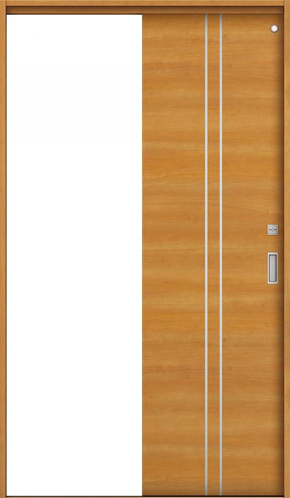 YKKAP室内引戸 ラフォレスタ[スタイリッシュ][木目横] トイレ片引き戸 Y13 ノンケーシング枠: