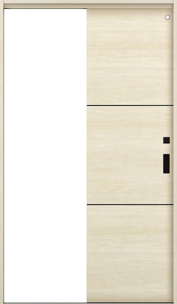 YKKAP室内引戸 ラフォレスタ[スタイリッシュ][木目横] トイレ片引き戸 Y10 ノンケーシング枠[集合住宅向け]: