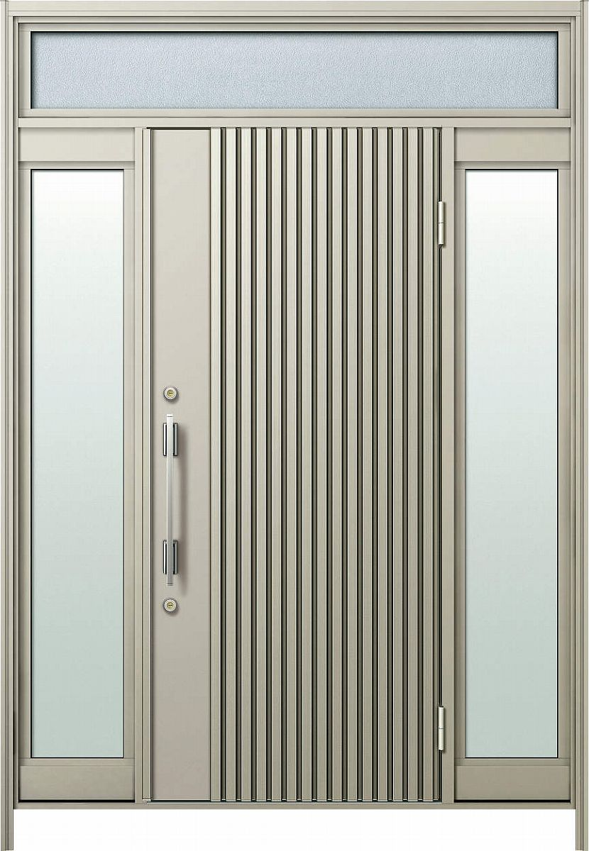 Ykkap玄関 リフォーム玄関ドア D4仕様ランマ付cタイプ 両袖fixm05v