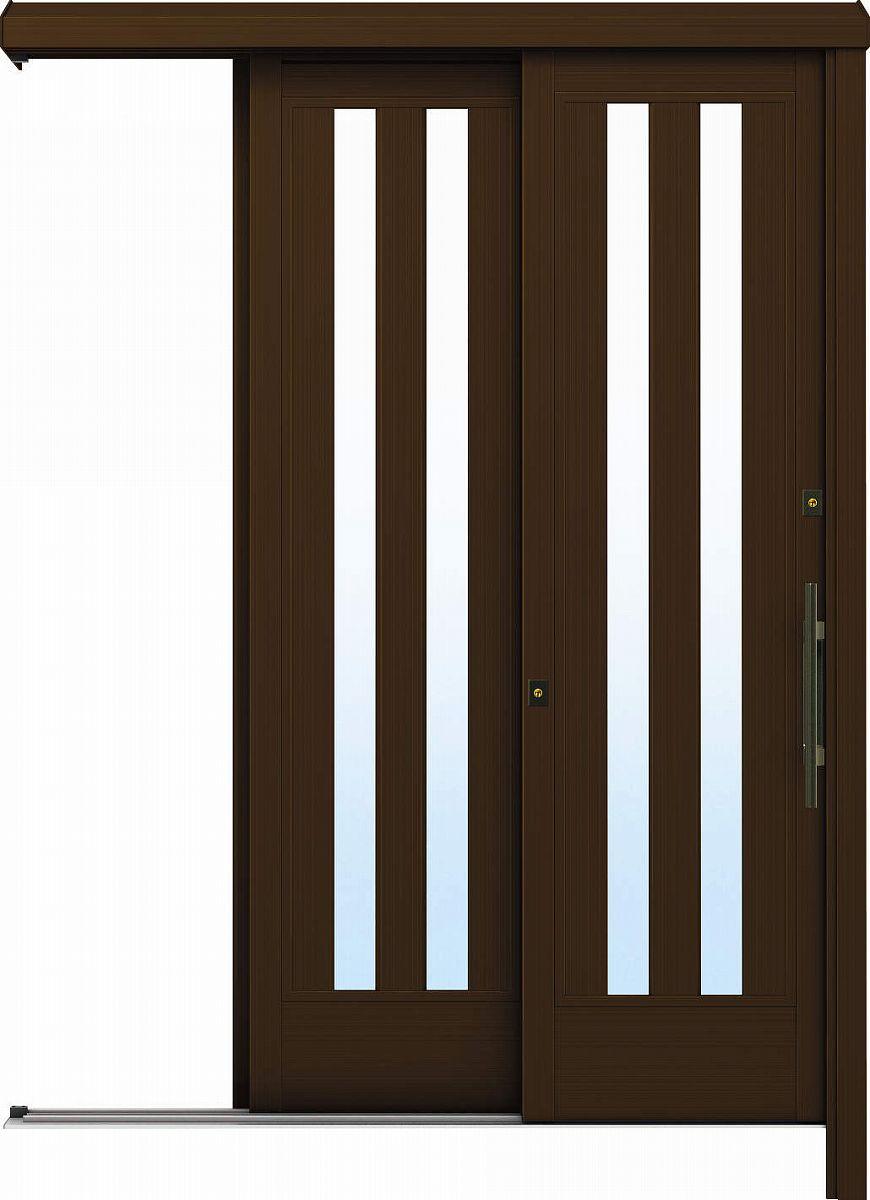 YKKAP玄関 リフォーム玄関引戸 ドアリモ[アウトセット] Y01 アルミ色[複層ガラス]:【YKK】【ドアリモ】【玄関引き戸】【取替】【交換】【DIY】【玄関リフォーム】