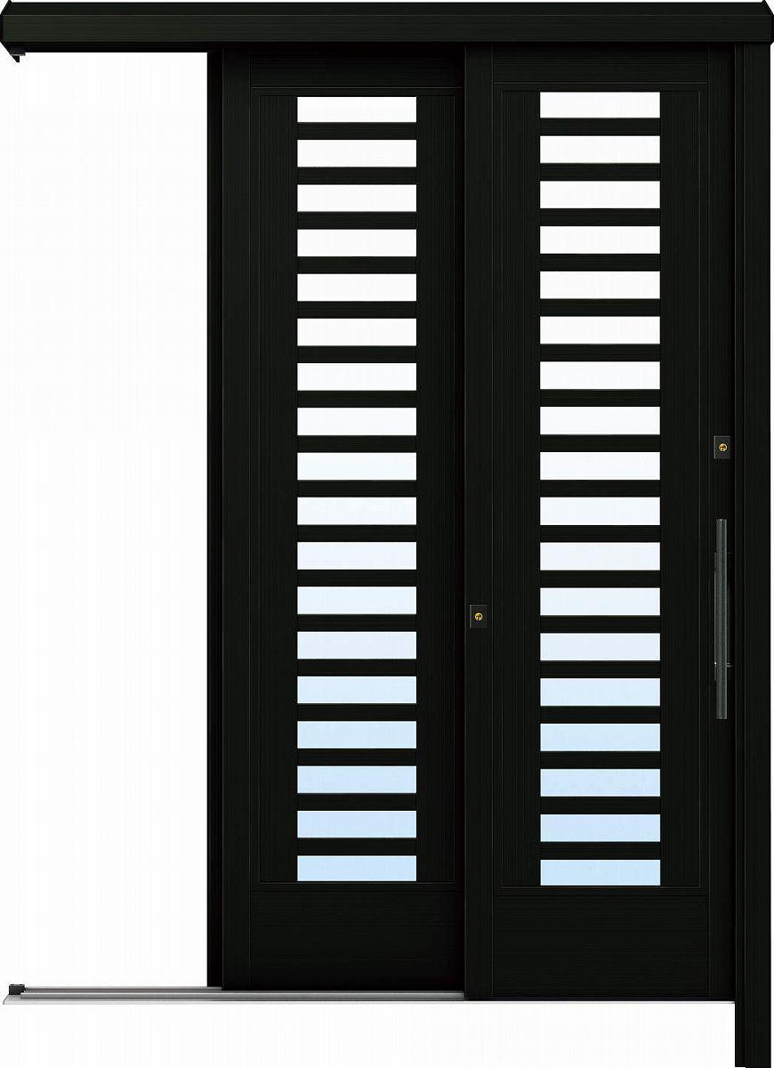 YKKAP玄関 リフォーム玄関引戸 ドアリモ[アウトセット] Y02 アルミ色[複層ガラス]:【YKK】【ドアリモ】【玄関引き戸】【取替】【交換】【DIY】【玄関リフォーム】