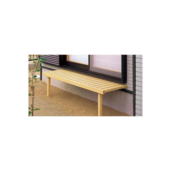 YKKAPガーデンエクステリア 庭まわり 濡れ縁/縁台 濡れ縁(壁付タイプ):[幅3620mm×高600mm]