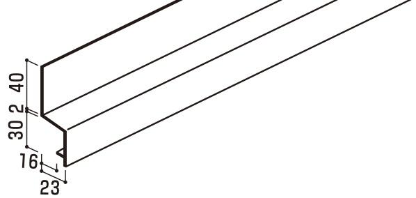 [送料無料] YKK ap アルミ 外壁 アルカベール 汎用部材 軒下・タテ張り用横連結部:連結水切 4000ミリ 8本入り 【地震 耐震 耐久性 災害 サビない 錆 雨 風 防音 寒冷地 サイディング サイジング 外装 新築 改築 リフォーム DIY 住宅建材 塩害 軽い】