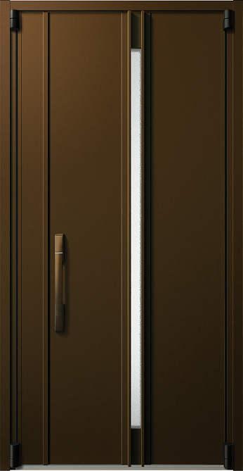 YKKAP玄関 断熱玄関ドア イノベスト[スマートコントロールキー] D50[形材断熱枠仕様] 親子(入隅用):903[幅1135mm×高2330mm]