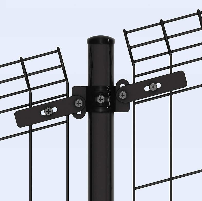 YKKAPオプション ガーデンエクステリア フェンス イーネットフェンス:1M型用間仕切り柱セット 傾斜地用 中柱用 T100用[高1000mm]