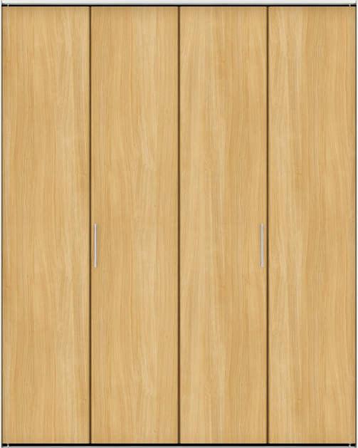 YKKAP収納 クローゼットドア 2枚折戸[スリム枠仕様] 木目たてTA 三方枠:[幅1188mm×高2033mm]
