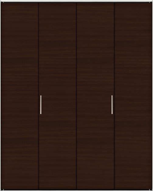 YKKAP収納 クローゼットドア 2枚折戸[スリム枠仕様] 木目横YA 三方枠:[幅1188mm×高2333mm]