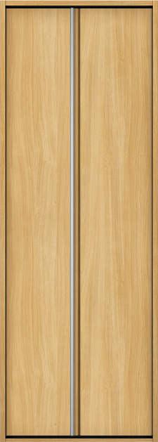 YKKAP収納 クローゼットドア 1枚折戸 木目たてT30 ノンケーシング枠[四方枠]:[幅733mm×高2345mm]