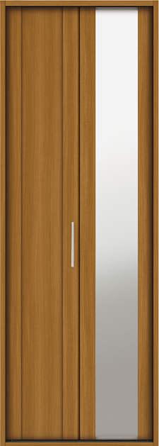 YKKAP収納 クローゼットドア 1枚折戸 JM ケーシング枠[四方枠]:[幅733mm×高2345mm]