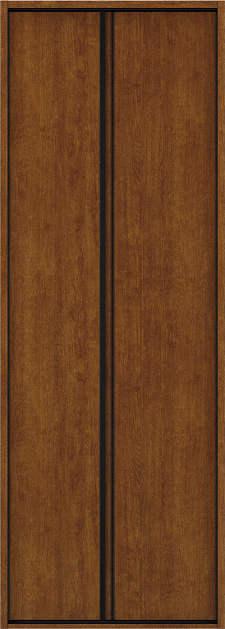 YKKAP収納 クローゼットドア 1枚折戸 木目たてT30 ケーシング枠[四方枠]:[幅823mm×高2345mm]