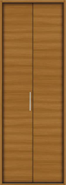 YKKAP収納 クローゼットドア 1枚折戸 木目横YA ノンケーシング枠[三方枠]:[幅733mm×高2333mm]