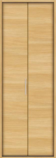 YKKAP収納 クローゼットドア 1枚折戸 木目横YA ケーシング[三方枠]:[幅823mm×高2333mm]