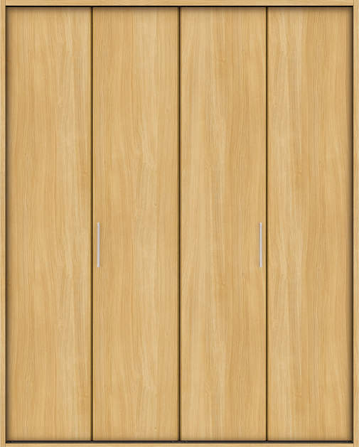 YKKAP収納 クローゼットドア 2枚折戸 木目たてTA ノンケーシング枠[四方枠]:[幅1188mm×高2045mm]