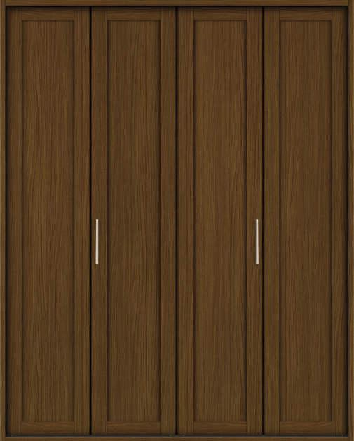 YKKAP収納 クローゼットドア 2枚折戸 NA ノンケーシング枠[四方枠]:[幅1188mm×高2345mm]