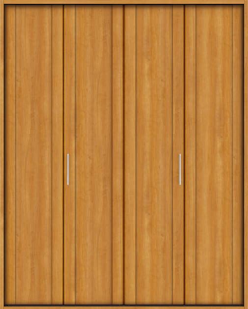 YKKAP収納 クローゼットドア 2枚折戸 JA ノンケーシング枠[四方枠]:[幅1188mm×高2045mm]