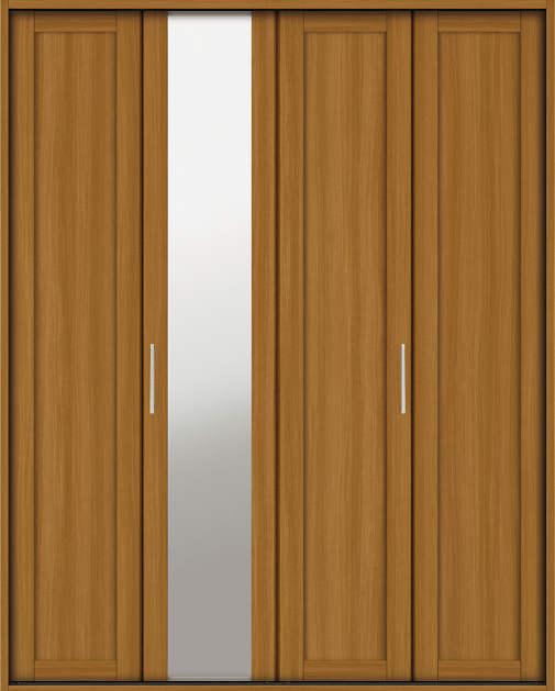 YKKAP収納 クローゼットドア 2枚折戸 NM ノンケーシング枠[四方枠]:[幅1643mm×高2345mm]