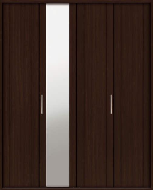 YKKAP収納 クローゼットドア 2枚折戸 JM ノンケーシング枠[四方枠]:[幅1188mm×高2345mm]