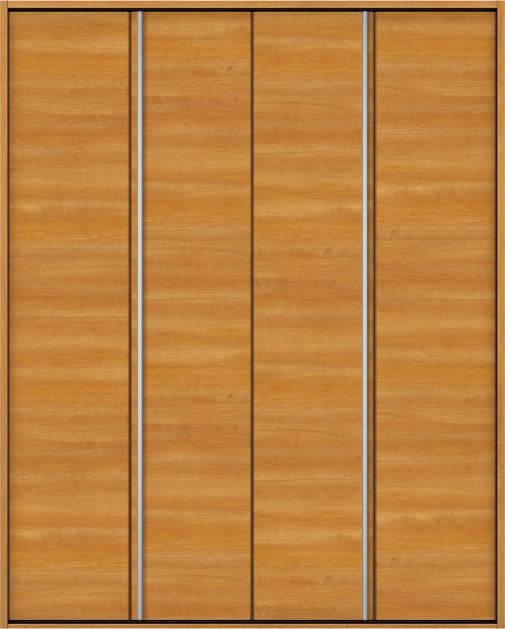 YKKAP収納 クローゼットドア 2枚折戸 木目横Y30 ノンケーシング枠[四方枠]:[幅1680mm×高2345mm]