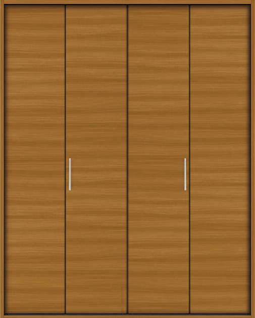 YKKAP収納 クローゼットドア 2枚折戸 木目横YA ケーシング枠[四方枠]:[幅1188mm×高2045mm]