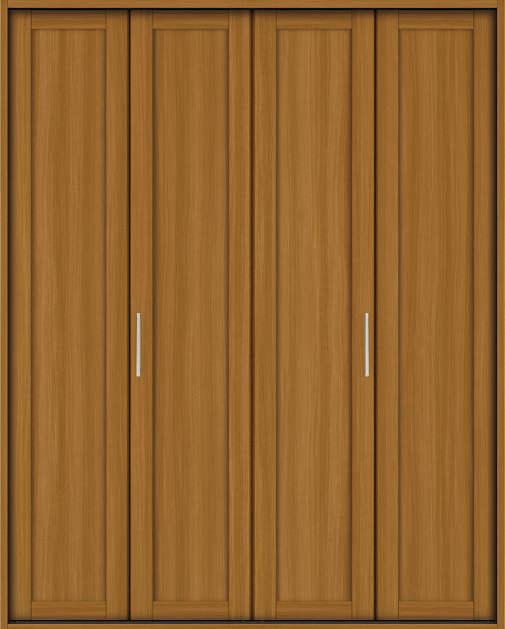 YKKAP収納 クローゼットドア 2枚折戸 NA ケーシング枠[四方枠]:[幅1643mm×高2345mm]