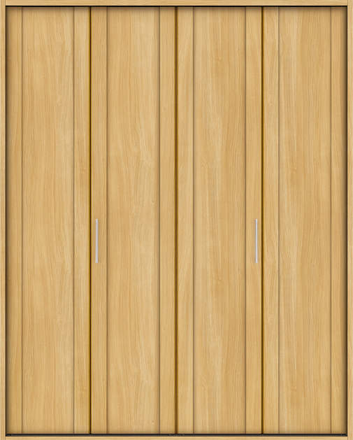 YKKAP収納 クローゼットドア 2枚折戸 JA ケーシング枠[四方枠]:[幅1643mm×高2345mm]