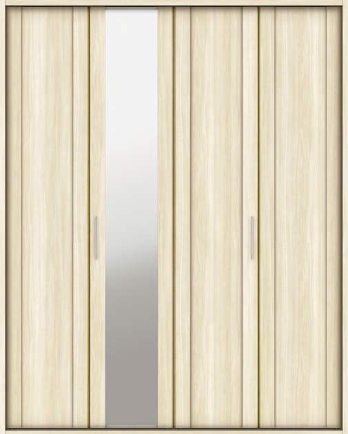 YKKAP収納 クローゼットドア 2枚折戸 JM ケーシング枠[四方枠]:[幅1188mm×高2045mm]