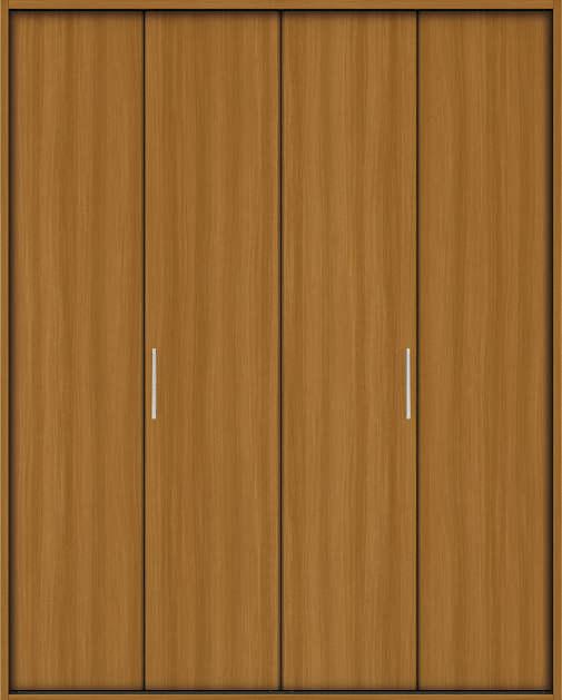 YKKAP収納 クローゼットドア 2枚折戸 木目たてTA ノンケーシング枠[三方枠]:[幅1188mm×高2333mm]