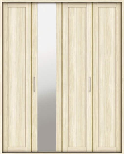YKKAP収納 クローゼットドア 2枚折戸 NM ノンケーシング枠[三方枠]:[幅1643mm×高2333mm]