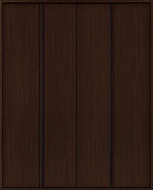 YKKAP収納 クローゼットドア 2枚折戸 木目たてT30 ノンケーシング枠[三方枠]:[幅1188mm×高2033mm]