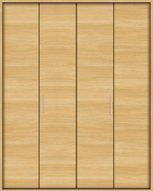 YKKAP収納 クローゼットドア 2枚折戸 木目横YA ノンケーシング枠[三方枠]:[幅1643mm×高2333mm]