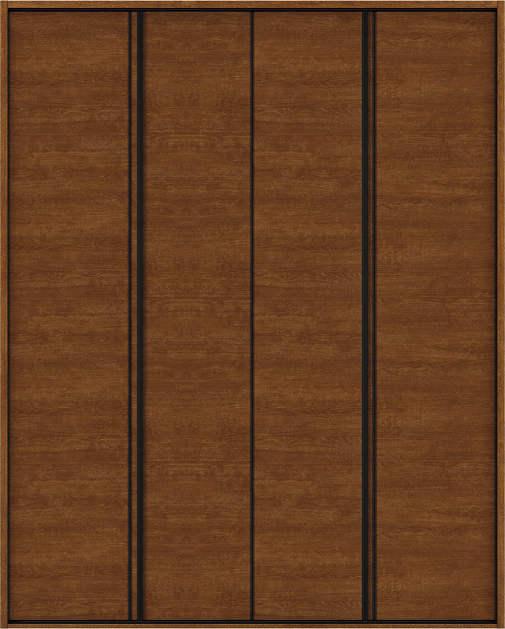 YKKAP収納 クローゼットドア 2枚折戸 木目横Y30 ケーシング[三方枠]:[幅1823mm×高2333mm]
