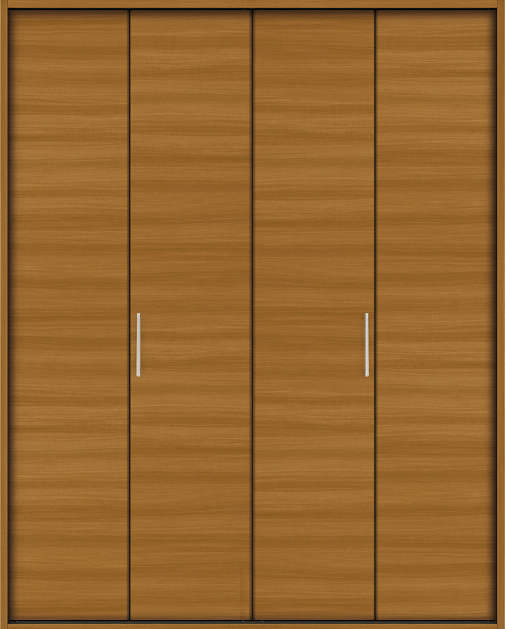 YKKAP収納 クローゼットドア 2枚折戸 木目横YA ケーシング[三方枠]:[幅1323mm×高2033mm]