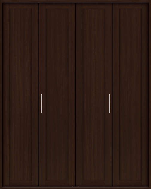 YKKAP収納 クローゼットドア 2枚折戸 NA ケーシング[三方枠]:[幅1643mm×高2333mm]