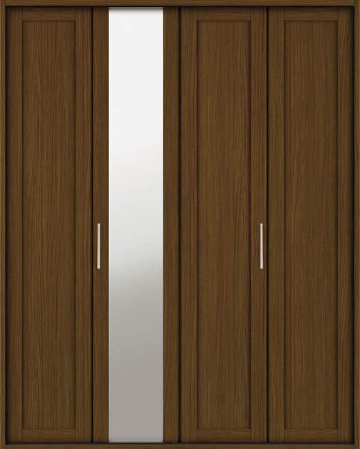 YKKAP収納 クローゼットドア 2枚折戸 NM ケーシング[三方枠]:[幅1643mm×高2033mm]