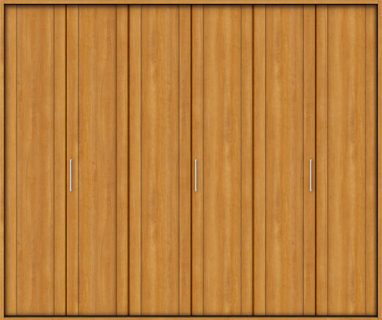 YKKAP収納 クローゼットドア 3枚折戸 JA ノンケーシング枠[四方枠]:[幅2445mm×高2045mm]