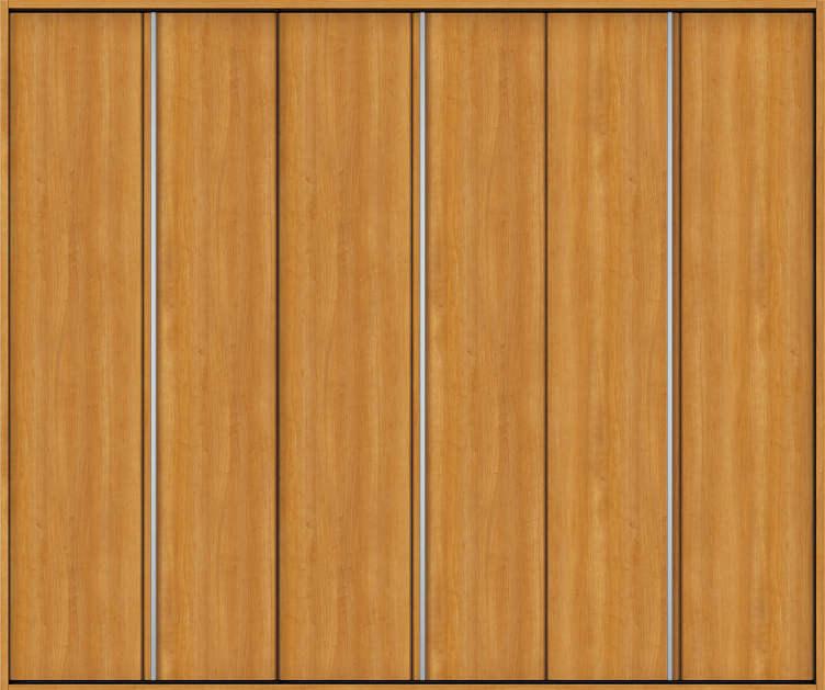YKKAP収納 クローゼットドア 3枚折戸 木目たてT30 ノンケーシング枠[四方枠]:[幅2553mm×高2045mm]