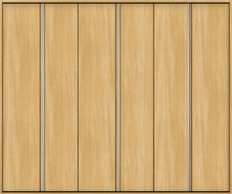 YKKAP収納 クローゼットドア 3枚折戸 木目たてT30 ケーシング枠[四方枠]:[幅2445mm×高2045mm]