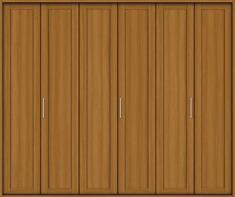 YKKAP収納 クローゼットドア 3枚折戸 NA ノンケーシング枠[三方枠]:[幅2445mm×高2033mm]