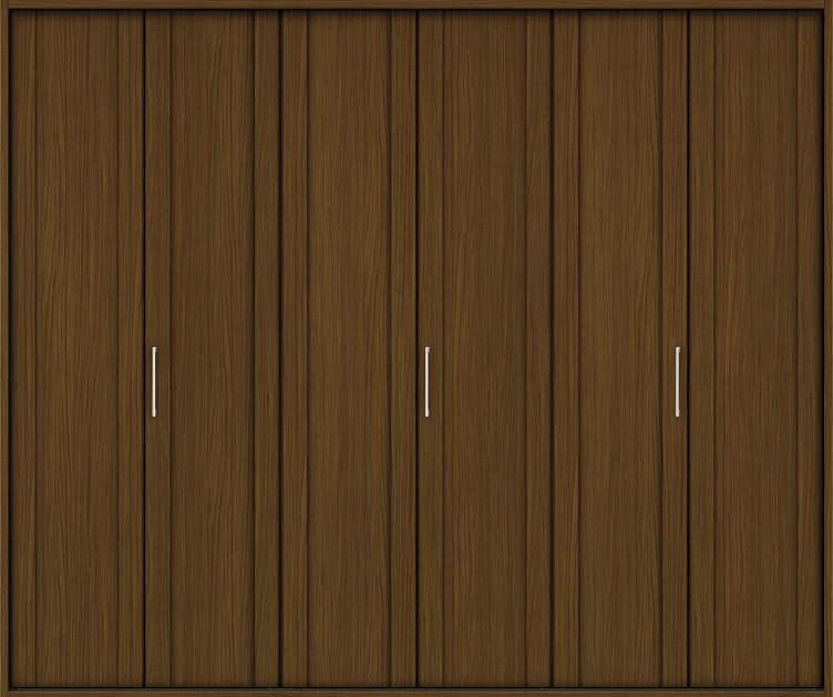 YKKAP収納 クローゼットドア 3枚折戸 JA ノンケーシング枠[三方枠]:[幅2715mm×高2333mm]