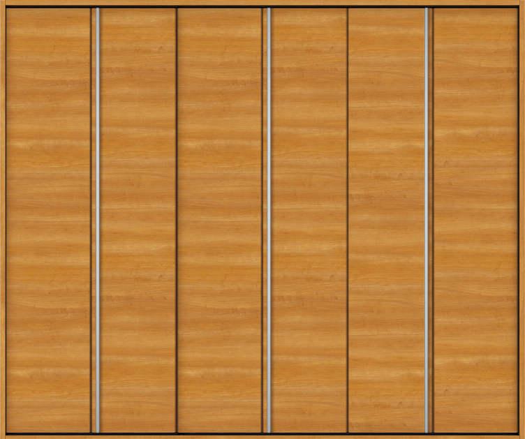 YKKAP収納 クローゼットドア 3枚折戸 木目横Y30 ノンケーシング枠[三方枠]:[幅2445mm×高2033mm]