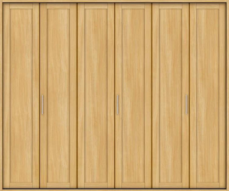 YKKAP収納 クローゼットドア 3枚折戸 NA ケーシング[三方枠]:[幅2553mm×高2033mm]