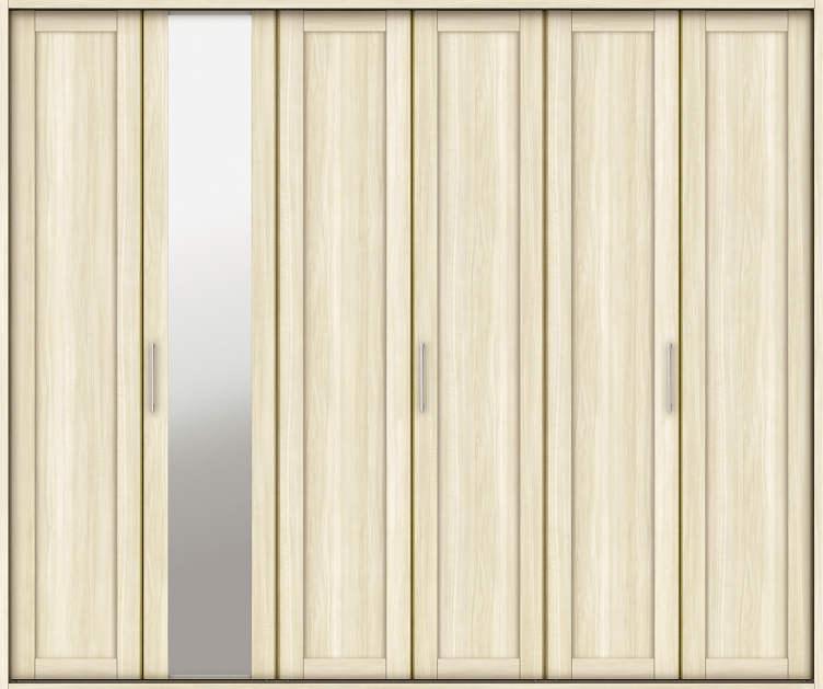 YKKAP収納 クローゼットドア 3枚折戸 NM ケーシング[三方枠]:[幅2445mm×高2033mm]