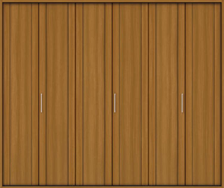YKKAP収納 クローゼットドア 3枚折戸 JA ケーシング[三方枠]:[幅2445mm×高2333mm]