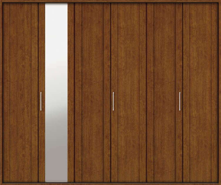 YKKAP収納 クローゼットドア 3枚折戸 JM ケーシング[三方枠]:[幅2445mm×高2333mm]